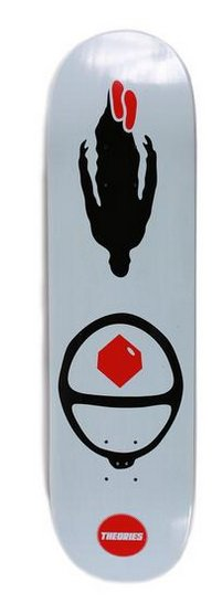Theories Brand Theories Brand Red Cube Deck 8.25