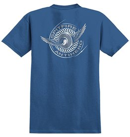 Spitfire Spitfire x Anti-Hero Classic Eagle T-shirt - Royal/Silver (size Medium)