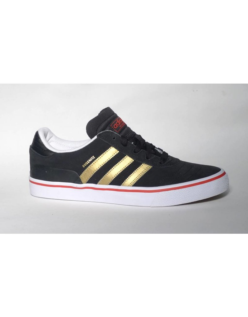 Adidas Adidas Busenitz Vulc - Black/Gold/Scarlet (size 8)