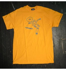 Thrasher Mag Thrasher KCUF T-shirt - Gold