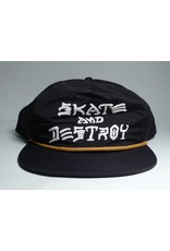 Thrasher Mag Thrasher Skate & Destroy Puff Ink Hat - Black