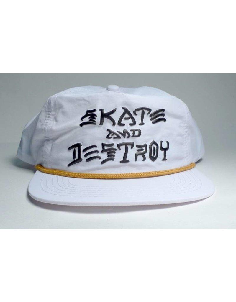 Thrasher Mag Thrasher Skate & Destroy Puff Ink Hat - White