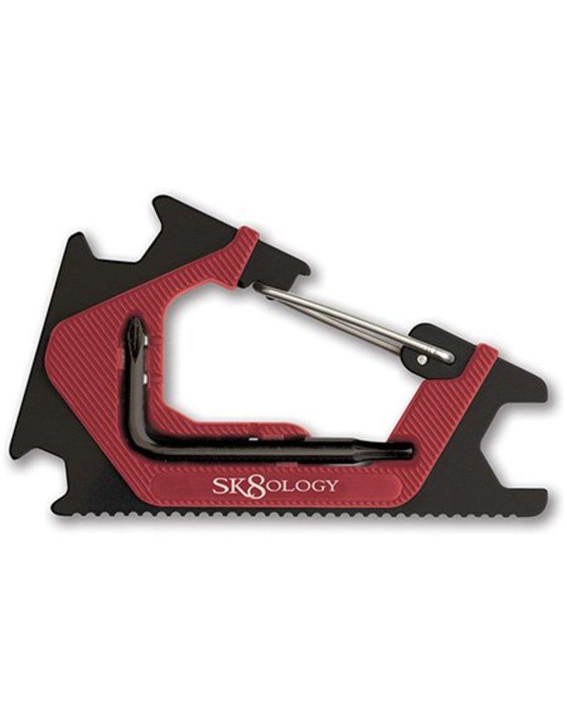 Sk8ology Sk8ology Carabiner Tool 2.0 Red/Black