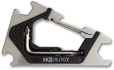 Sk8ology Sk8ology Carabiner Tool 2.0 Silver/Black