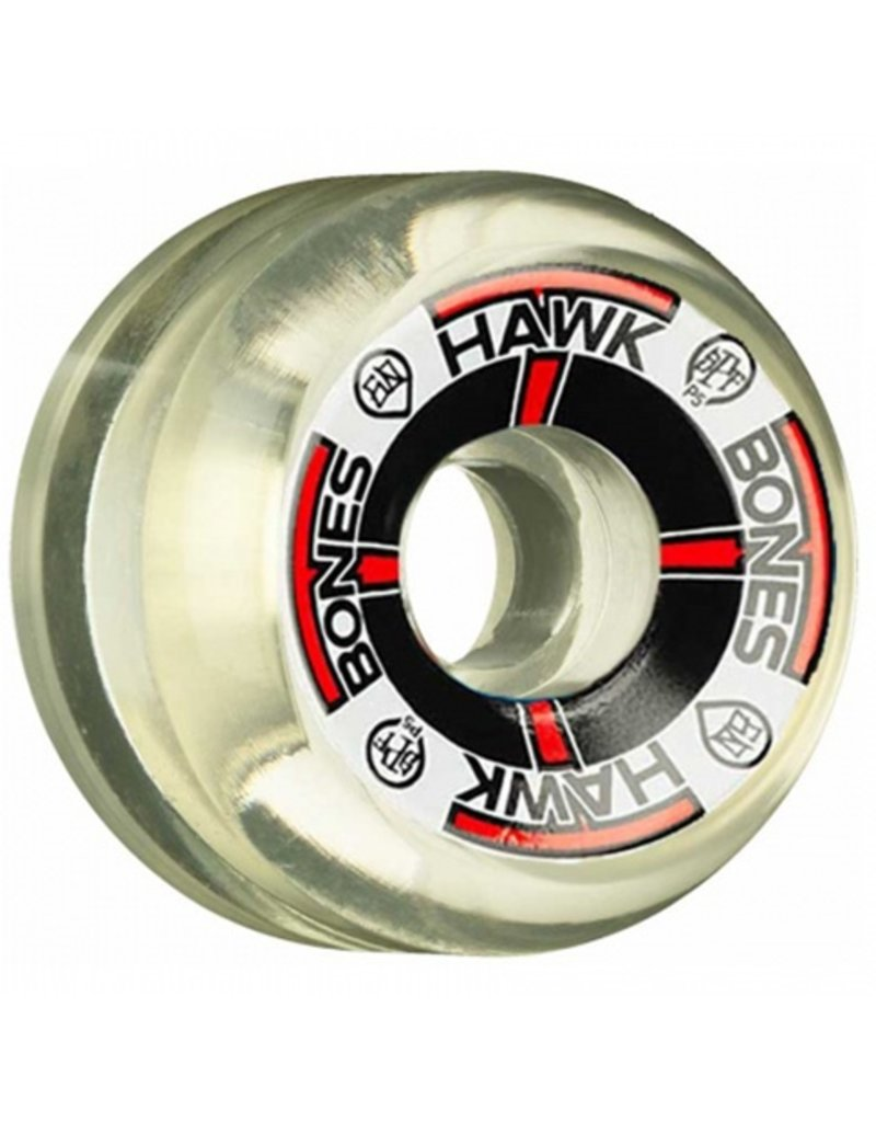 Bones Wheels Bones SPF Hawk T-Bone Clear Natural 60mm Wheels (set of 4)