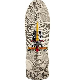 Powell Powell Skull and Sword Geegah White Deck - 9.75
