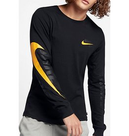 Nike SB Nike Sb Longsleeve T-shirt - Black/Black/Circuit Orange (Large)