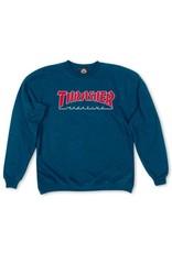 Thrasher Mag Thrasher Mag Outlined Crew - Navy