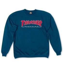 Thrasher Mag Thrasher Mag Outlined Crew - Navy