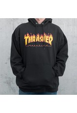 Thrasher Mag Thrasher Flame Logo Hoodie - Black