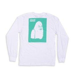 Quasi Street Canoe Smile Longsleeve T-shirt - White (X-Large)