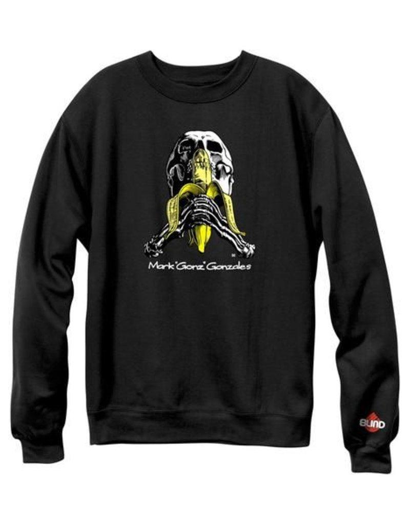 Blind Blind Gonz Skull & Banana Crew - Black (size Medium