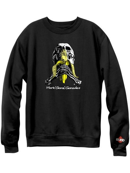 Blind Blind Gonz Skull & Banana Crew - Black (size Medium