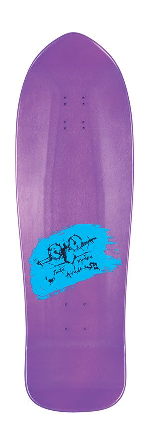 Santa Cruz Santa Cruz Reissue Natas Evil Cat Metallic Purple Deck - 10.13 x 32.02