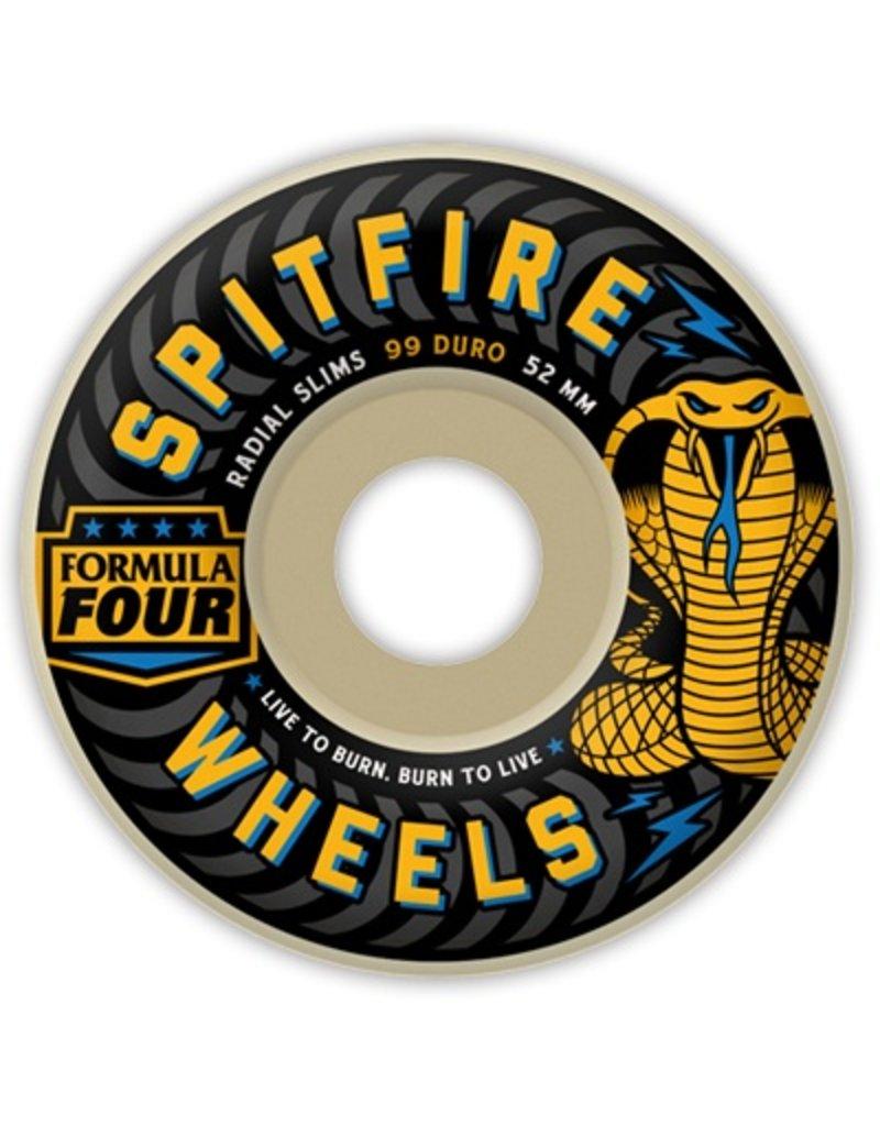 Spitfire Spitfire Formula Four Radial Slim Speed Kills 52mm 99d wheels (set of 4)