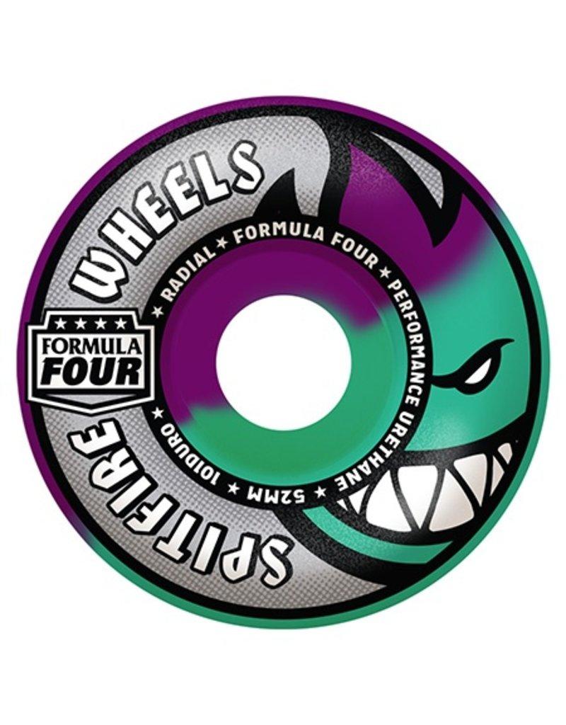 Spitfire Spitfire Formula Four Swirl Purpler/Mint Radial 52mm 101d wheels (set of 4)