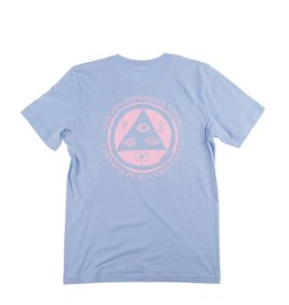 Welcome Welcome Latin Tailsman T-shirt - Baby Blue/Pink