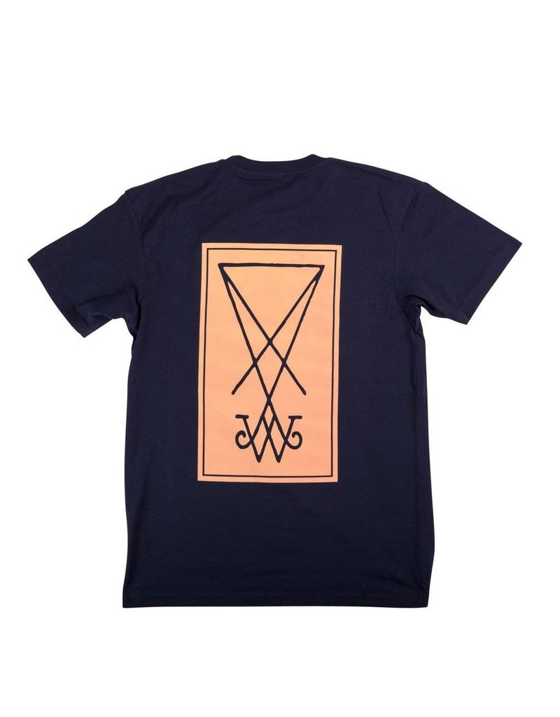 Welcome Welcome Symbol T-shirt - Navy/Peach