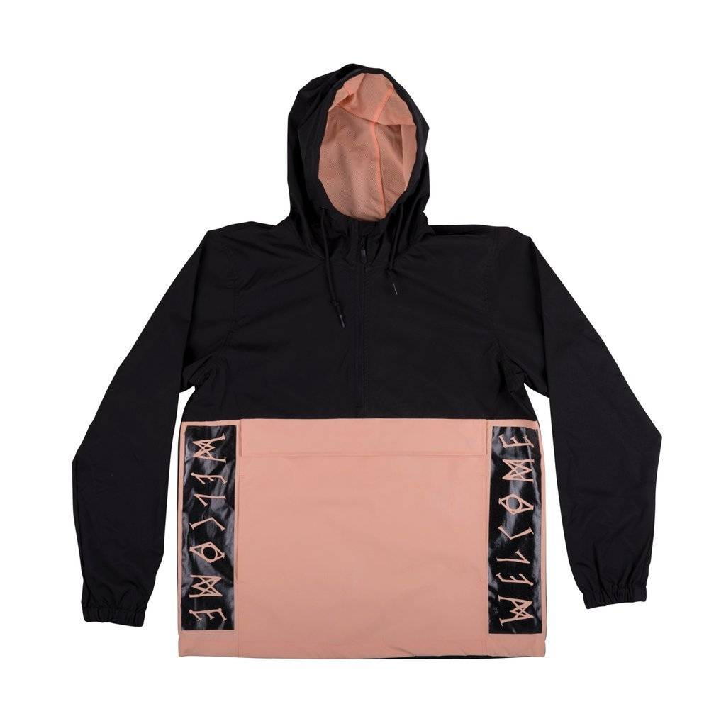 Welcome Welcome Team Anorak - Black/Peach