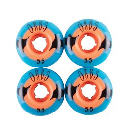 Orbs Orbs Poltergeists 53mm 102a Blue/Orange wheels (set of 4)