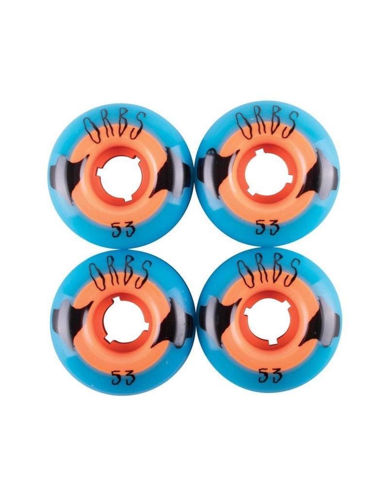 Orbs Orbs Poltergeists 53mm 102a Blue/Orange wheels (set of 4)