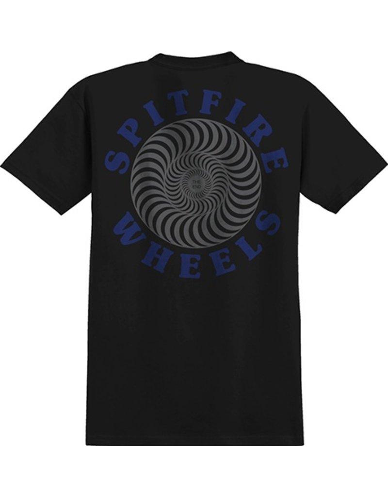 Spitfire Spitfire OG Classic Pocket T-shirt - Black/Grey (Medium)