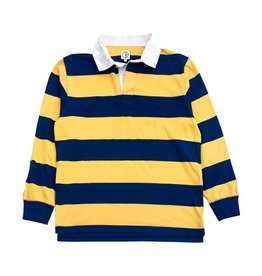 Polar Polar x Dear Block Stripe Polo Longsleeve - Navy/Yellow