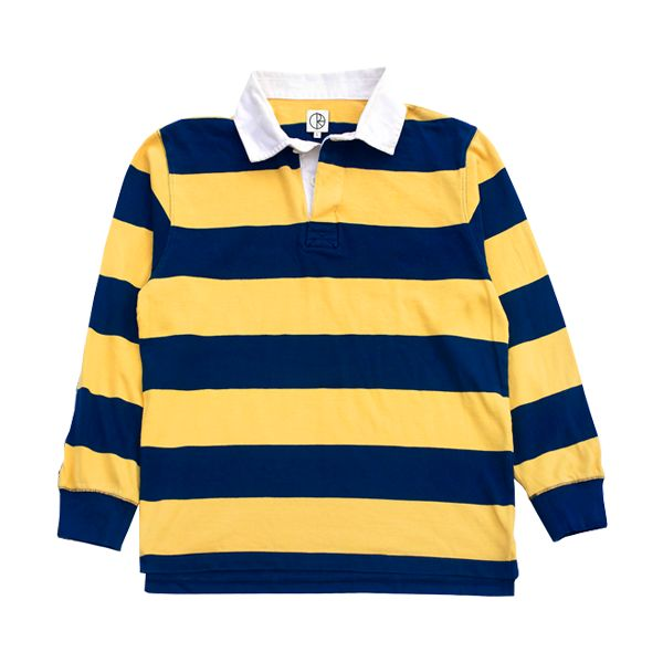 Polar Polar x Dear Block Stripe Polo Longsleeve - Navy/Yellow