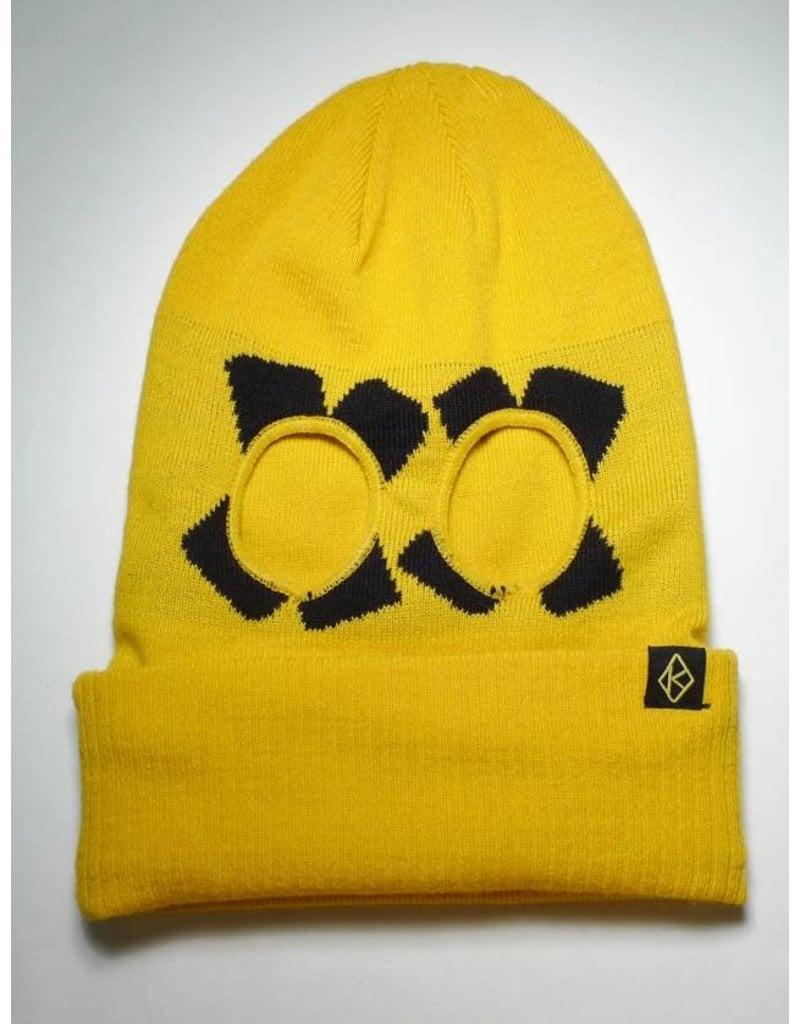 Krooked Krooked Cross Eyed Ski Mask Beanie - Yellow