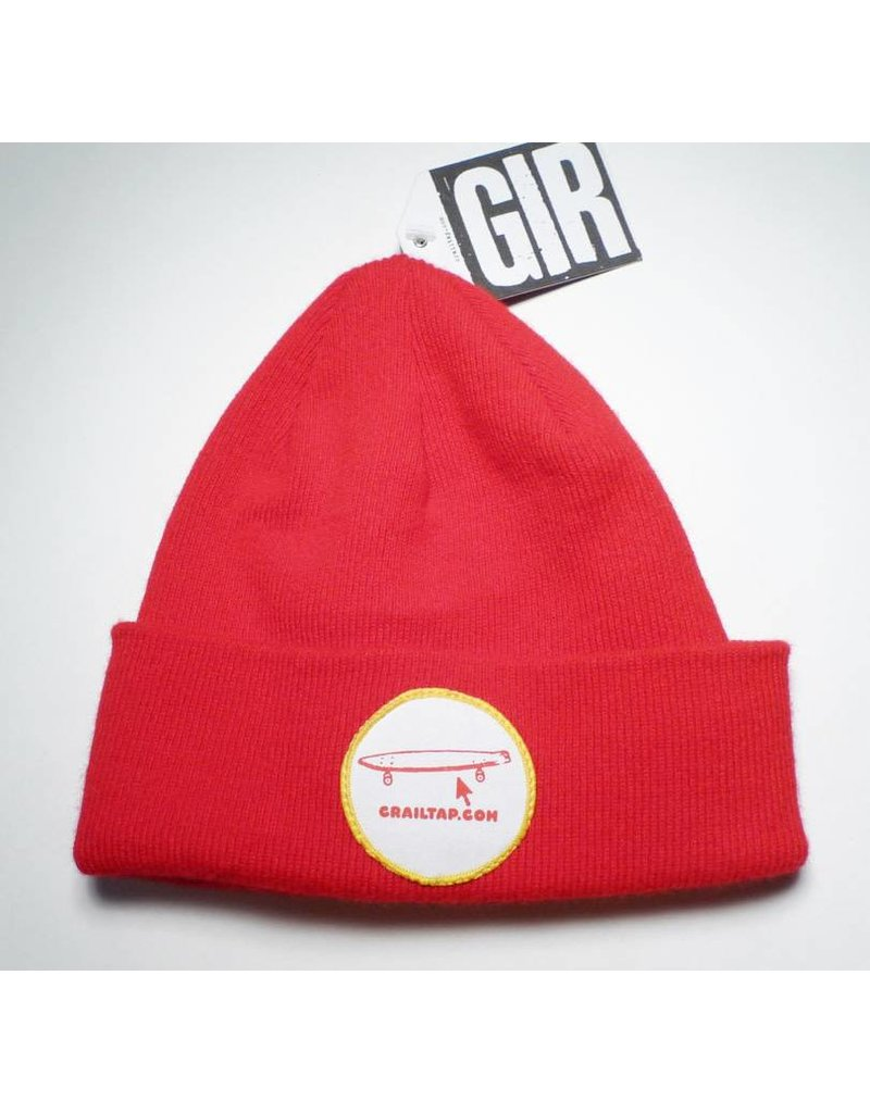 Girl Girl Crailtap Patch Beanie - Red