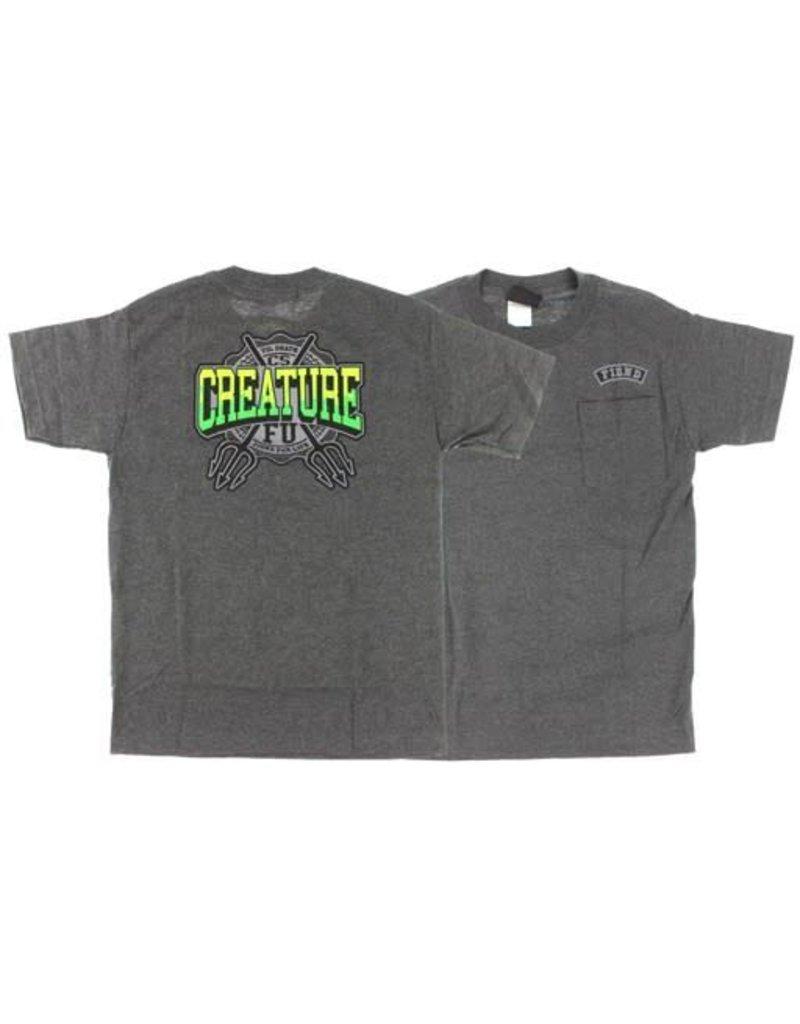Creature Flunkee Pocket T-shirt - Heater Grey (Medium)