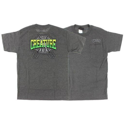 Creature Creature Flunkee Pocket T-shirt - Heater Grey (Medium)
