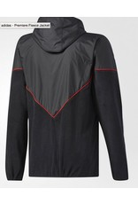 Adidas Adidas Premiere Fleece Jacket - Black/Utility Black/Scarlet