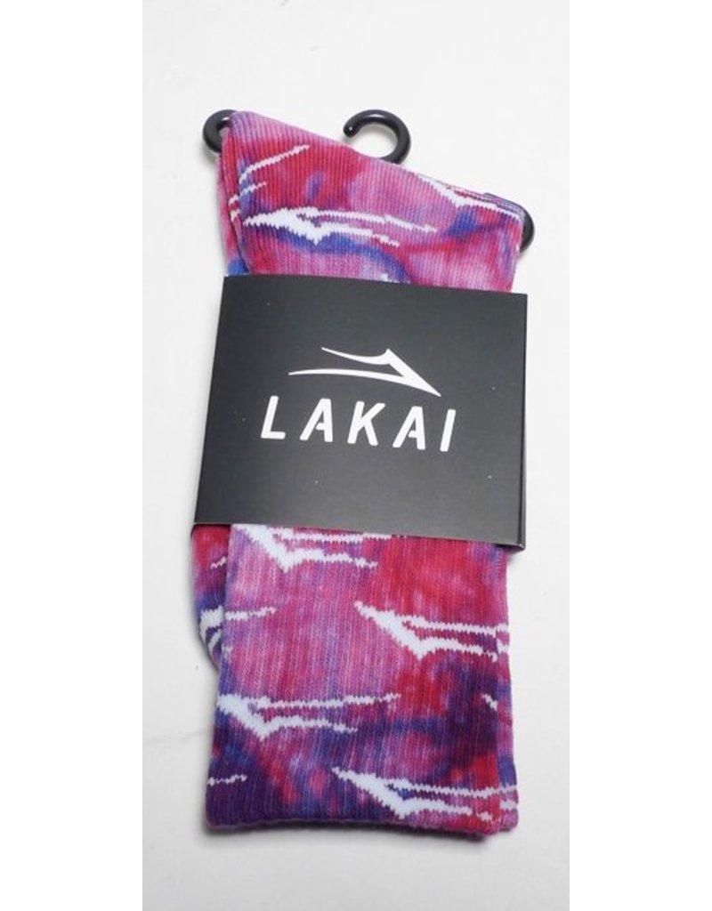 Lakai Lakai Flare Crew Sock - Red/Blue