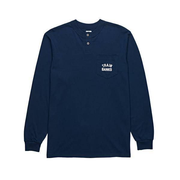 Polar Polar Train Banks Henley Longsleeve - Navy