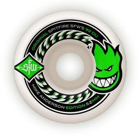 Spitfire Spitfire Anderson SFW 2 52mm 99d wheels (set of 4)