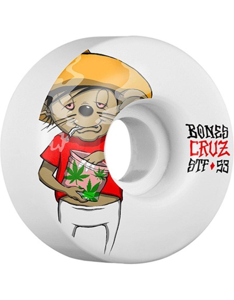 Bones Wheels Bones STF v2 53mm Cruz Weedy Wheels (set of 4)