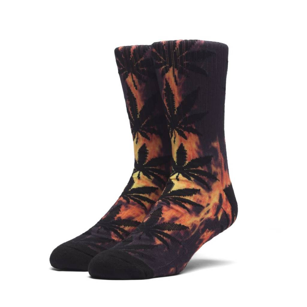 Huf Worldwide Huf Digital Plantlife Crew Sock - Hot Fire