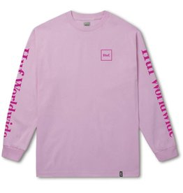 Huf Worldwide Huf Domestic Longsleeve T-shirt - Pink (size X-Large)