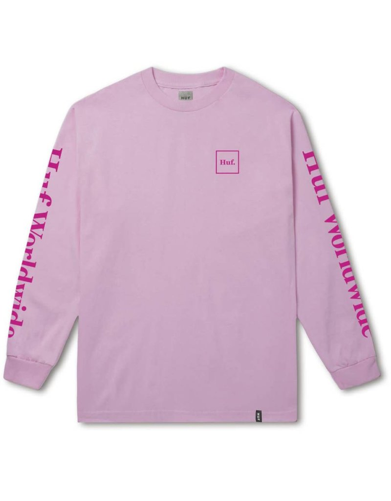 Huf Worldwide Huf Domestic Longsleeve T-shirt - Pink