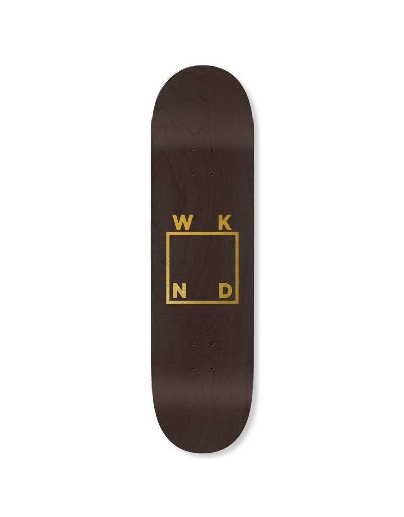 WKND brand WKND Black Veneer/Gold Logo Deck - 8.5