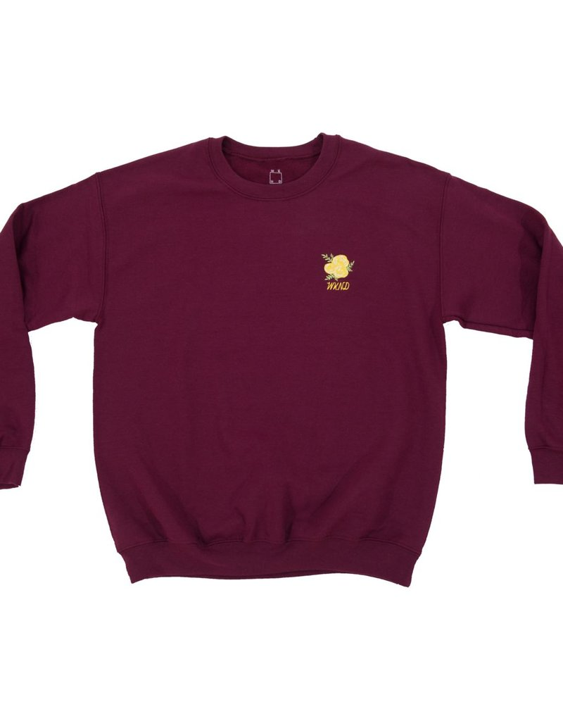 WKND brand Wknd Embroidered Crew Neck - Maroon
