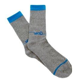 WKND brand WKND Line Logo Socks - Gray/Blue