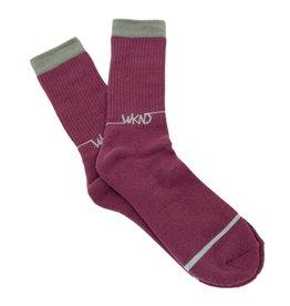 WKND brand WKND Line Logo Socks - Maroon/Gray