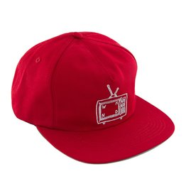 WKND brand WKND TV Logo 5 panel Hat - Scarlet