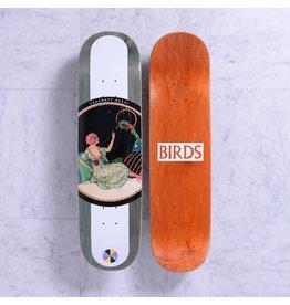 Quasi Quasi Birds Olive Deck - 8.25 x 31.25