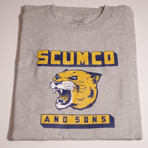 Scumco & Sons Scumco & Sons Panther Power T-shirt - Ahtletic Grey
