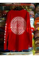 Spitfire Spitfire Swirl Longsleeve T-shirt - Red (size X-Large)