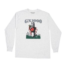 GX1000 GX1000 Crab Longsleeve T-shirt - Ash