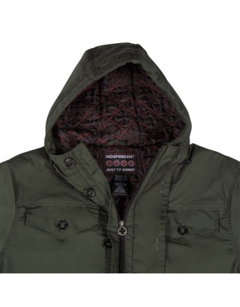 Independent Independent Manuever Hooded Heavyweight Jacket - Dark Army Green